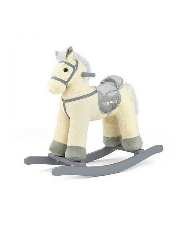 Safe for all ages 18 months and up, the Beige Plush Children's Rocking Horse is certainly an original accessory that all your friends will envy your child. This beautiful wooden rocking toy is a lovely and unusual gift that will be enjoyed now and by future generations.