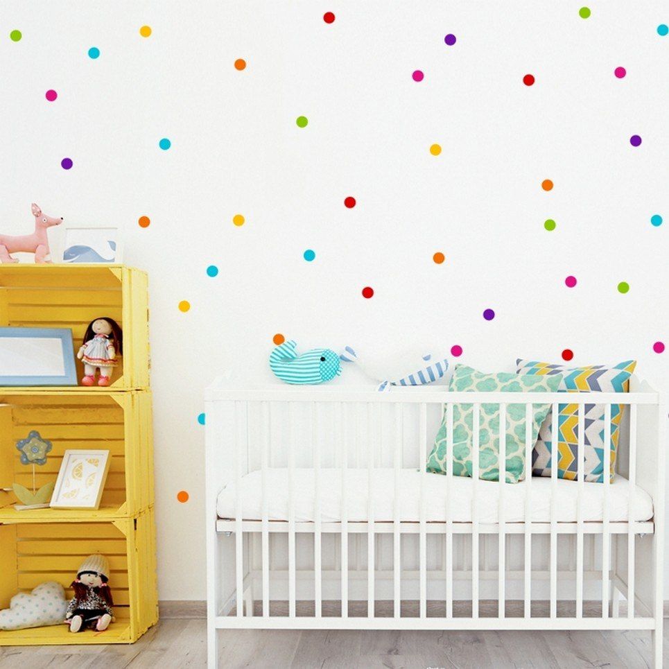 Colored Peas 3,5cm Children's Wall Sticker
