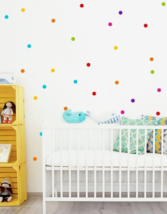 A beautiful scene for children's rooms and nurseries, the Colored Peas 3,5cm Children's Wall Sticker is the perfect addition to any empty space (like walls or furniture). These wall stickers provide a flexible and cost-effective way to decorate your home.