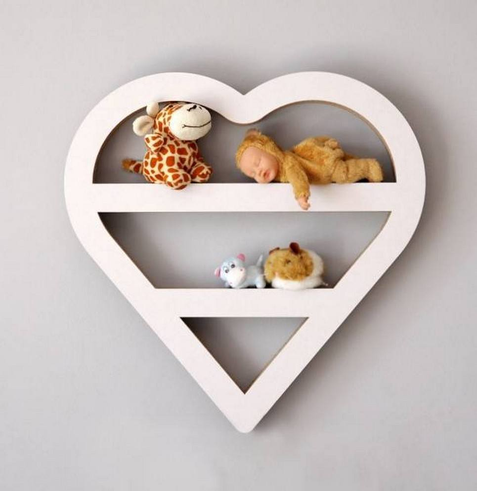 Heart Children's Wall Shelf