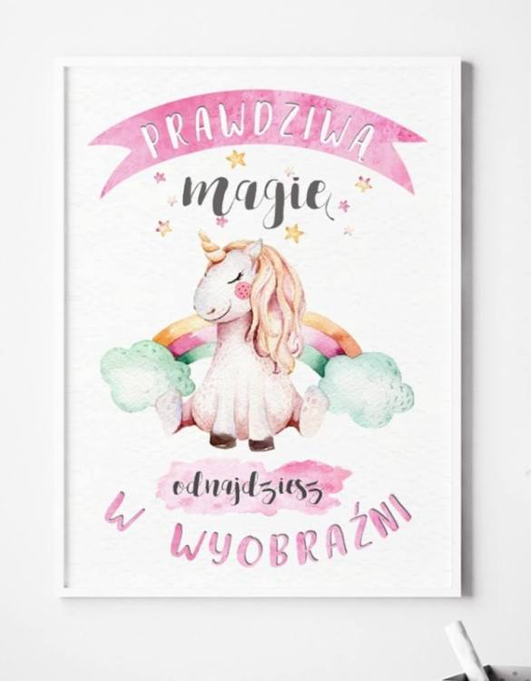A unique keepsake that will create enchanting memories, the Magic Unicorn Children's Poster is a really unique and eyecatching print that is loved by kids and adults. Encourage their wild side with this fun print. Designed in a playful font, they will make a great addition to any nursery, child's room, or playroom.