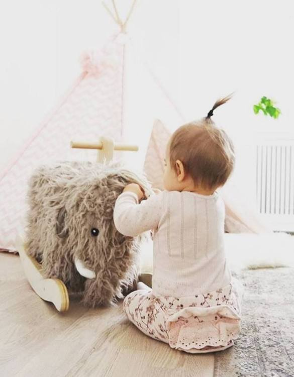 Safe for all ages 18 months and up, the Mammoth NEO Children's Rocking Toy is certainly an original accessory that all your friends will envy your child. This beautiful wooden rocking toy is a lovely and unusual gift that will be enjoyed now and by future generations.