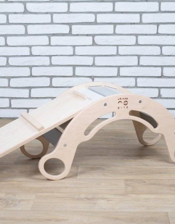 A great choice for playtime, the Rainbow for Boys Montessori Balance Board and Plank will quickly become your household's most beloved toy as well. This rocking toy will stimulate your toddler's senses, awaken their imagination, strengthen muscles and will promote the development of balance.