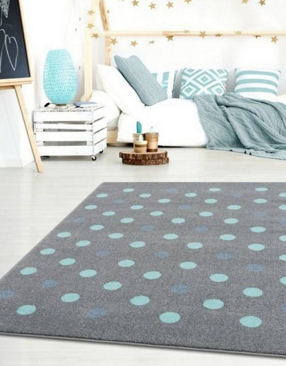 The perfect accessory for any nursery or child's bedroom, the Silver Gray with Polka Dots Children's Rug is a dreaminess that will certainly inspire your little one's creative play.