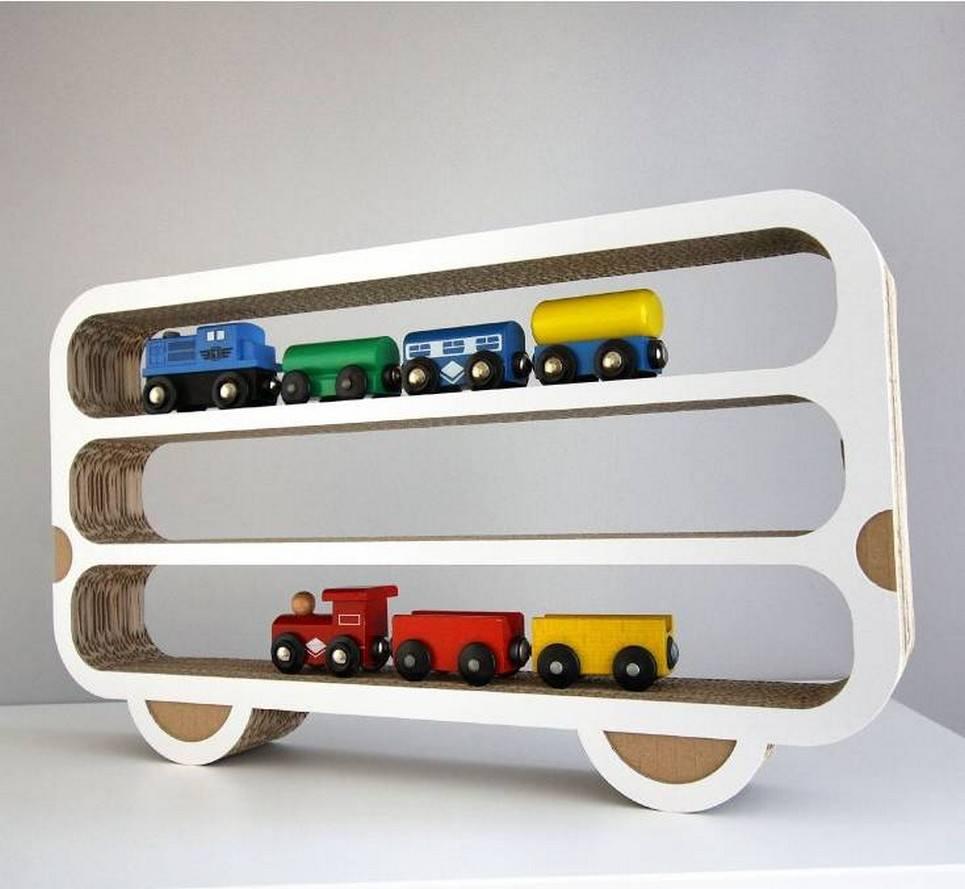 Wagon Children's Wall Shelf