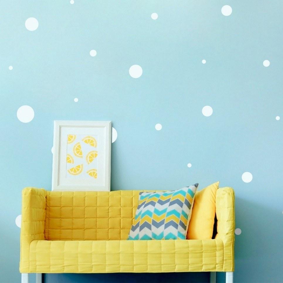 White Dots Children's Wall Sticker