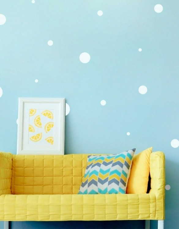 A beautiful scene for children's rooms and nurseries, the White Dots Children's Wall Sticker is the perfect addition to any empty space (like walls or furniture). These wall stickers provide a flexible and cost-effective way to decorate your home.