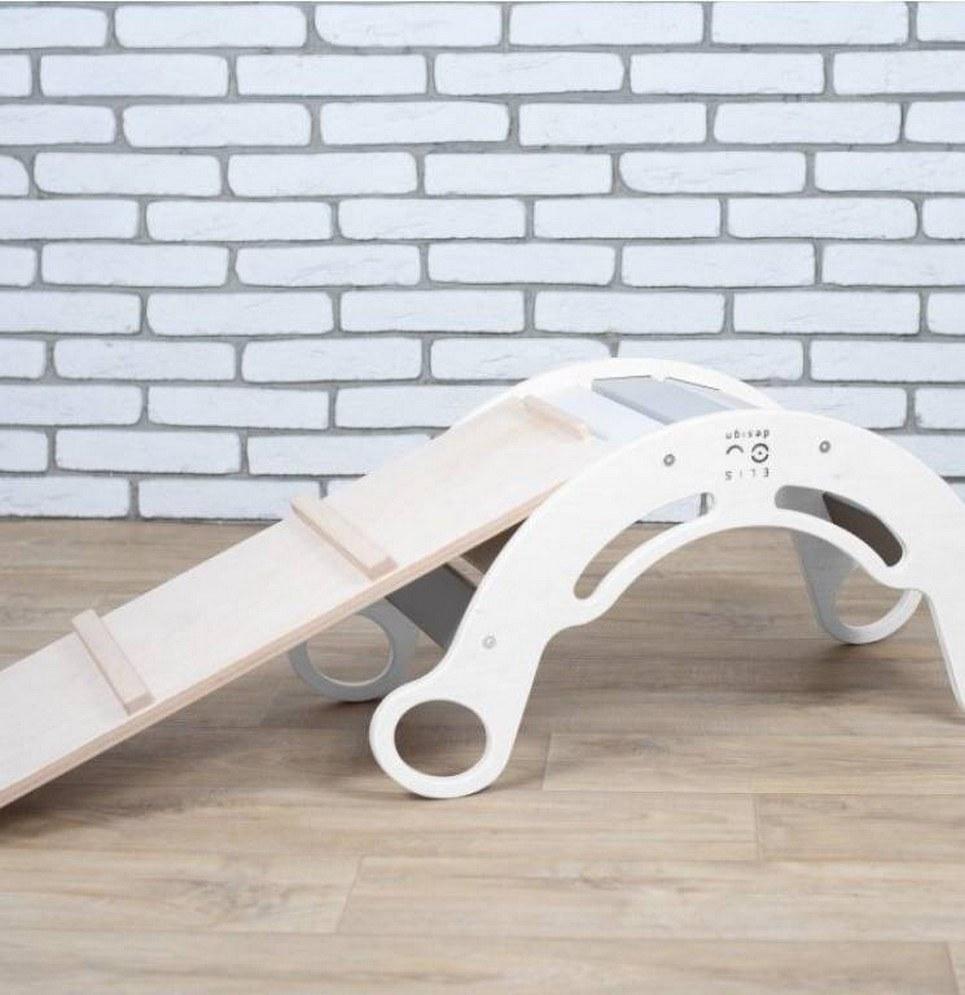 White with Rainbow Montessori Balance Board and Plank – 4