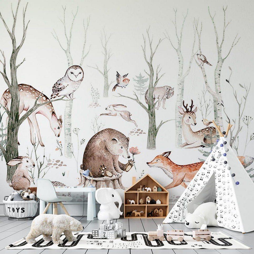 Autumn Forest Children's Wallpaper