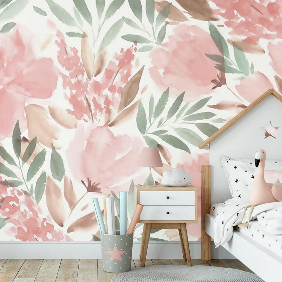 Big Flowers Children's Wallpaper