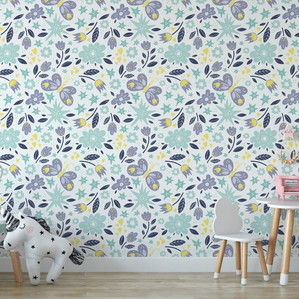 Butterflies Children's Wallpaper