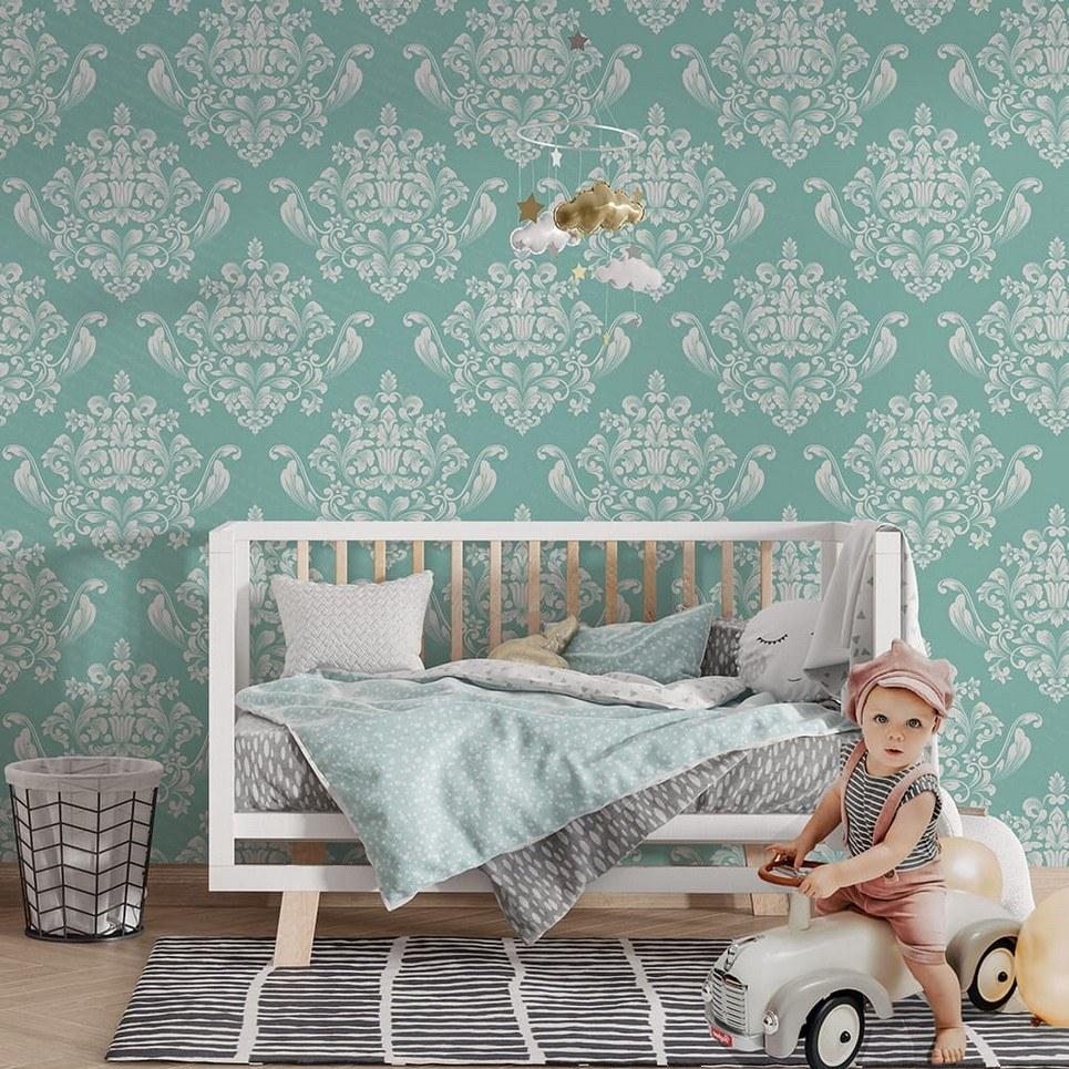 Castle Ornaments Children's Wallpaper