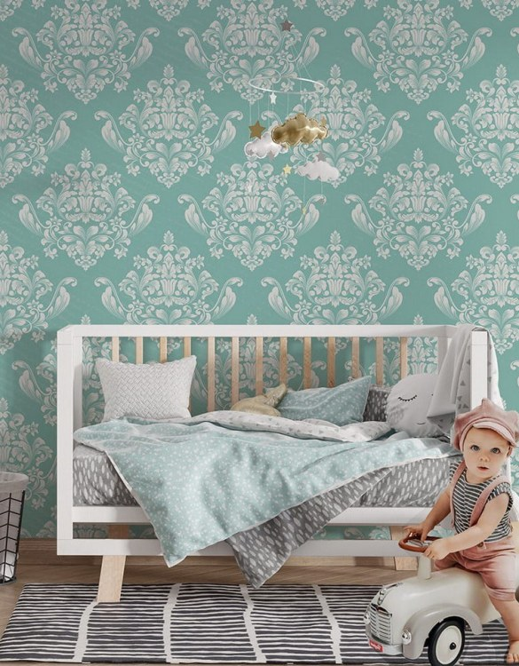 Sure to be adored by little ones, the Castle Ornaments Children's Wallpaper is a fun addition to any nursery or playroom. Go on an adventure with our kid's wallpaper for children's rooms! A well-chosen pattern can visually enlarge the interior.