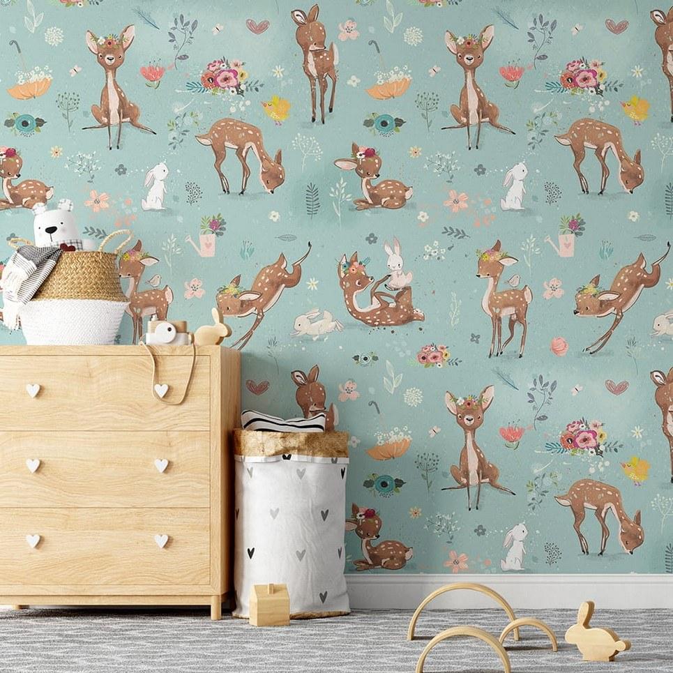 Deers Children's Wallpaper
