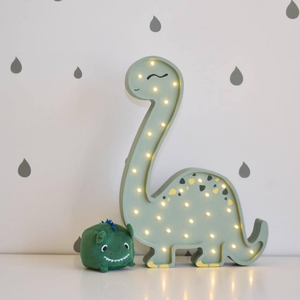 Diplodok Wooden Lamp for Children