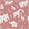 Sure to be adored by little ones, the Giraffes and Elephants Children's Wallpaper is a fun addition to any nursery or playroom. Go on an adventure with our kid's wallpaper for children's rooms! A well-chosen pattern can visually enlarge the interior.