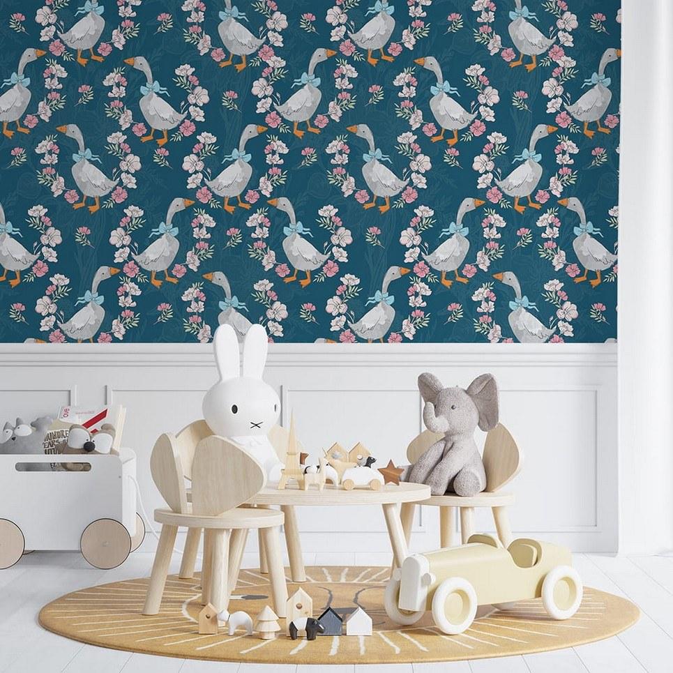 Goose Children's Wallpaper