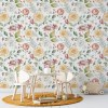 Sure to be adored by little ones, the Pastel Flowers Children's Wallpaper is a fun addition to any nursery or playroom. Go on an adventure with our kid's wallpaper for children's rooms! A well-chosen pattern can visually enlarge the interior.