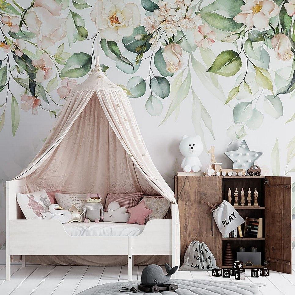Pastel Garden Children's Wallpaper