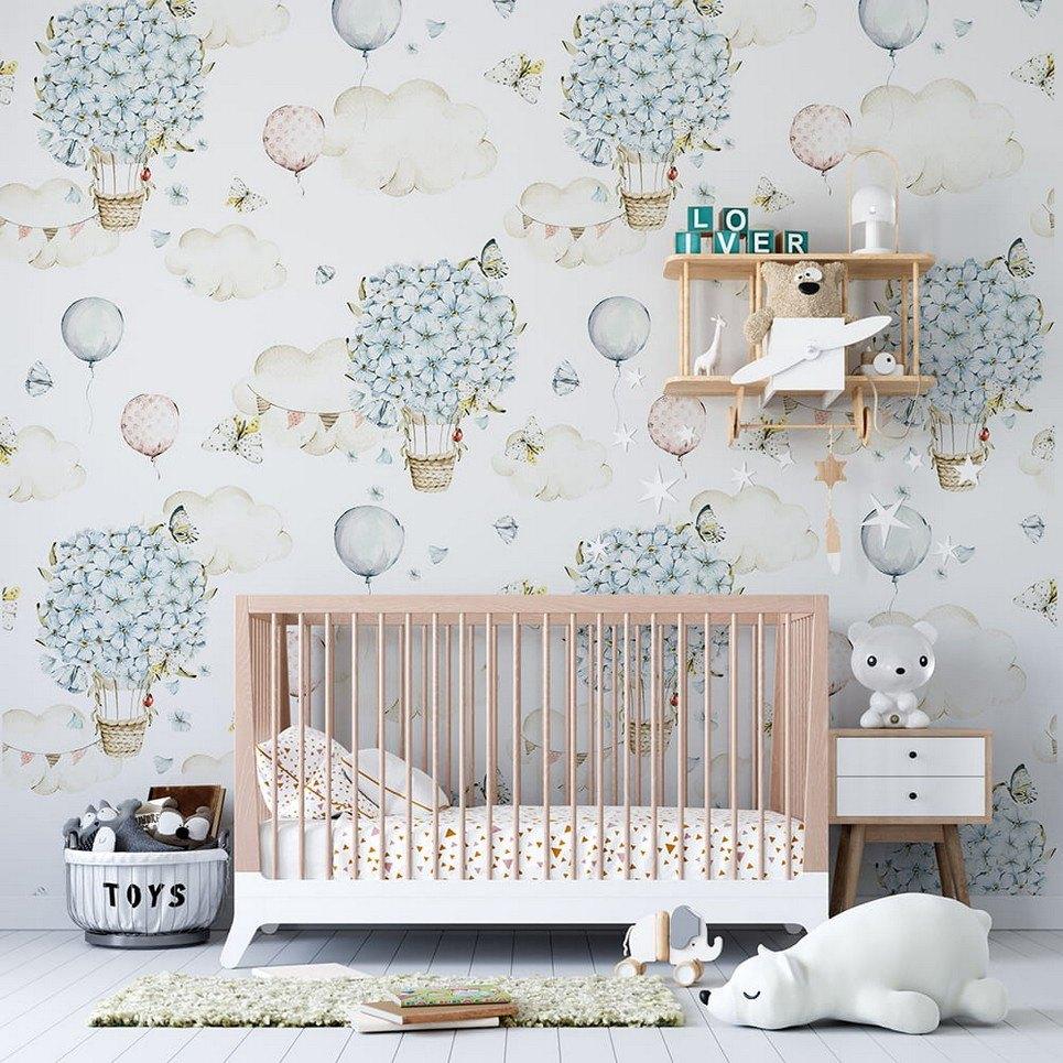 Pastel World Children's Wallpaper