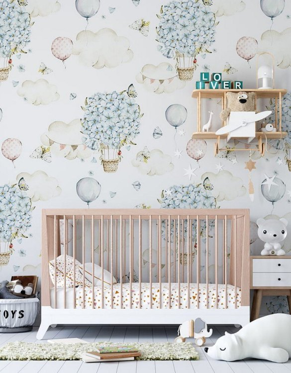 Sure to be adored by little ones, the Pastel World Children's Wallpaper is a fun addition to any nursery or playroom. Go on an adventure with our kid's wallpaper for children's rooms! A well-chosen pattern can visually enlarge the interior.