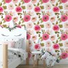 Sure to be adored by little ones, the Pink Meadow Children's Wallpaper is a fun addition to any nursery or playroom. Go on an adventure with our kid's wallpaper for children's rooms! A well-chosen pattern can visually enlarge the interior.