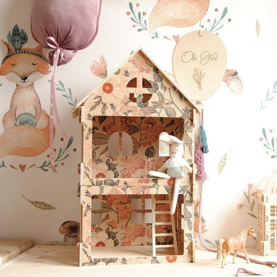 Retro Flowers Children's Dolls House