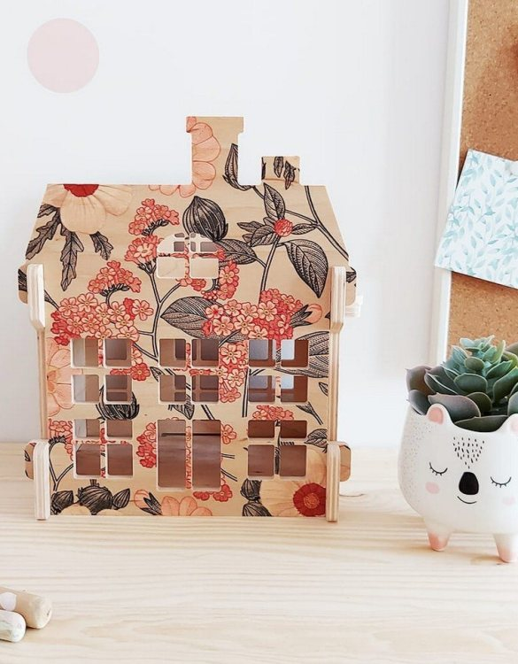 """With a beautiful design, the Retro Flowers Wooden Children's Dolls House has been created not only for great fun, but also are a unique decoration for children's rooms. Toys that help to pretend to be """"adults"""", such as mini-cookers, prams, or dollhouses are very important in the development of a child."""