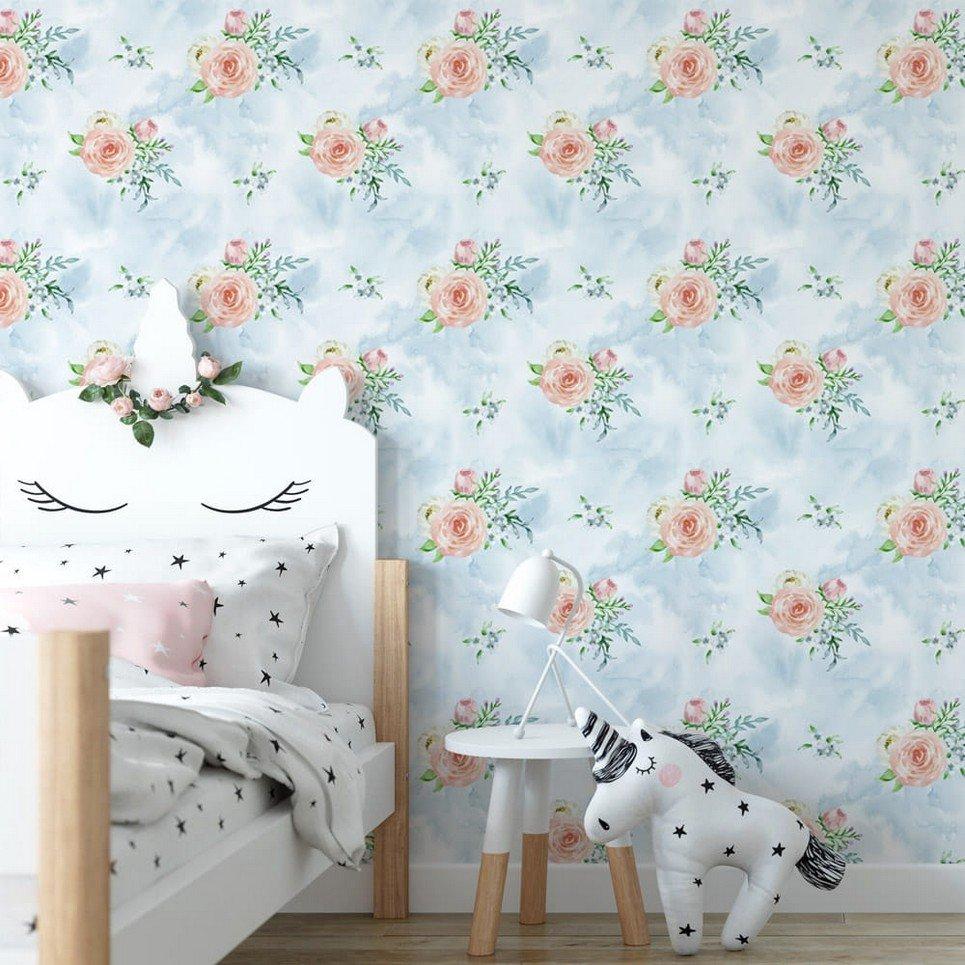 Sky Bouquets Children's Wallpaper