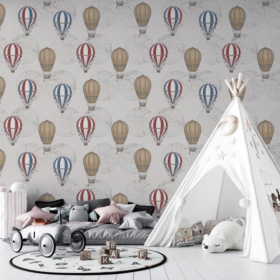 Vintage Balloons Children's Wallpaper
