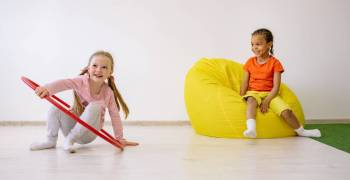 A children's bean bag chair is exactly what it sounds like - a bean bag for your little one to relax in! Bean bags for babies are usually filled with dried beans or polystyrene so they can mold to your child's body shape and size.