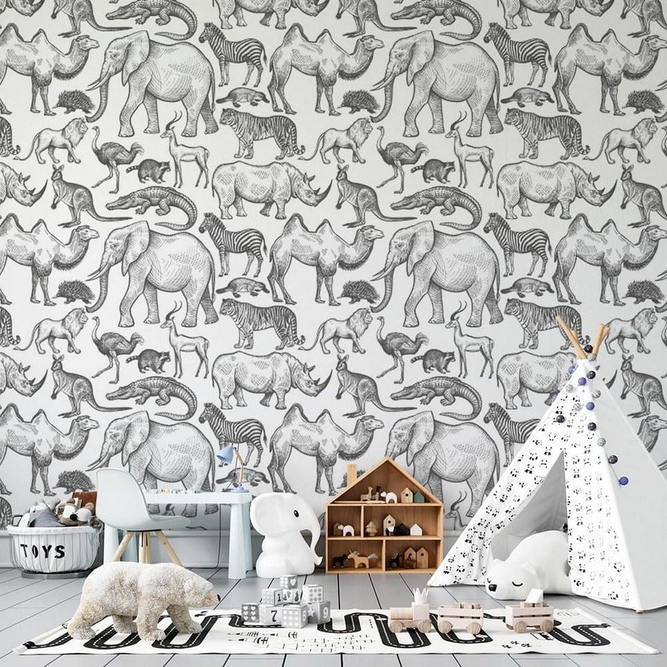 Wild World Children's Wallpaper