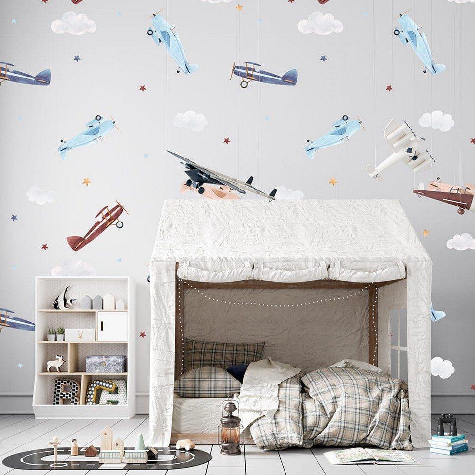 Airplanes Children's Wallpaper