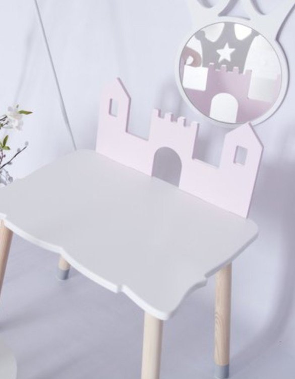 Combining a desk and a space for endless role-play, the Castle Children's Table does not tell your child what it is but waits for them to decide. Turn your child's room into a real fairytale. This playful kid's table will reliably make every little one happy.