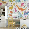 Sure to be adored by little ones, the Dinosaurs 9 Children's Wallpaper is a fun addition to any nursery or playroom. Go on an adventure with our kid's wallpaper for children's rooms! A well-chosen pattern can visually enlarge the interior.