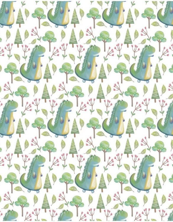 Sure to be adored by little ones, the Dinosaurs Children's Wallpaper is a fun addition to any nursery or playroom. Go on an adventure with our kid's wallpaper for children's rooms! A well-chosen pattern can visually enlarge the interior.
