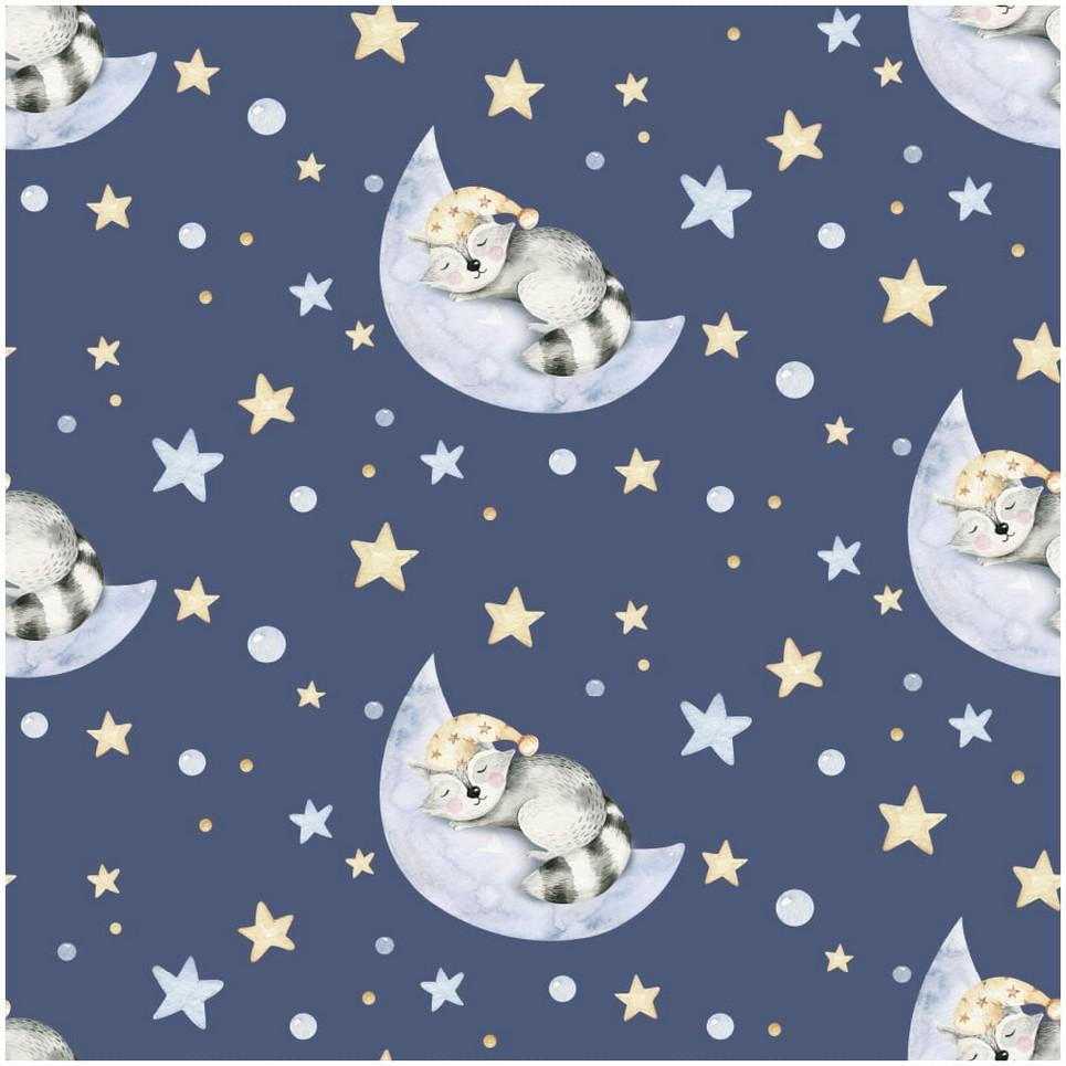Raccoon Sweet Sleepers Children's Wallpaper