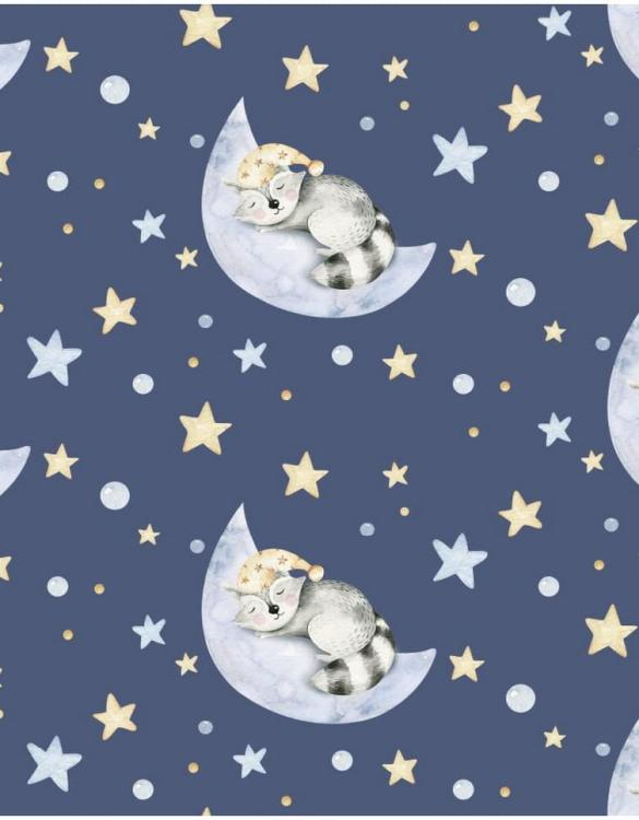 Sure to be adored by little ones, the Raccoon Sweet Sleepers Children's Wallpaper is a fun addition to any nursery or playroom. Go on an adventure with our kid's wallpaper for children's rooms! A well-chosen pattern can visually enlarge the interior.