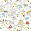 Sure to be adored by little ones, the Streets of the City Children's Wallpaper is a fun addition to any nursery or playroom. Go on an adventure with our kid's wallpaper for children's rooms! A well-chosen pattern can visually enlarge the interior.
