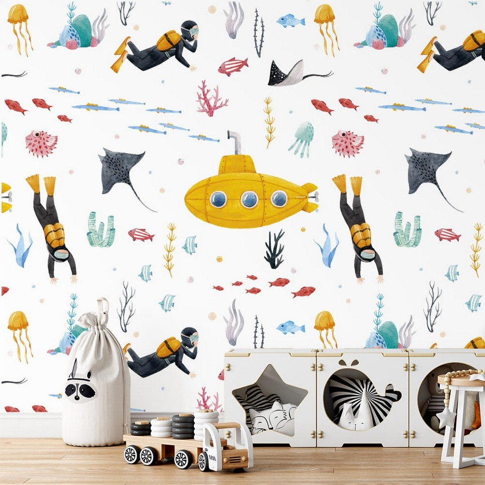 Underwater World Children's Wallpaper