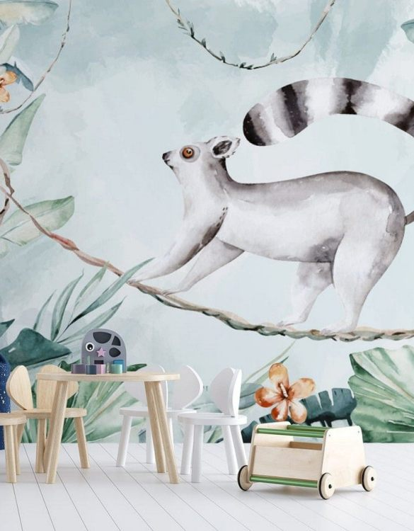 Sure to be adored by little ones, the Jungle and Friends 13 Children's Wallpaper is a fun addition to any nursery or playroom. Go on an adventure with our kid's wallpaper for children's rooms! A well-chosen pattern can visually enlarge the interior.