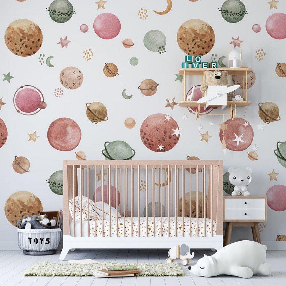 Planets Children's Wallpaper