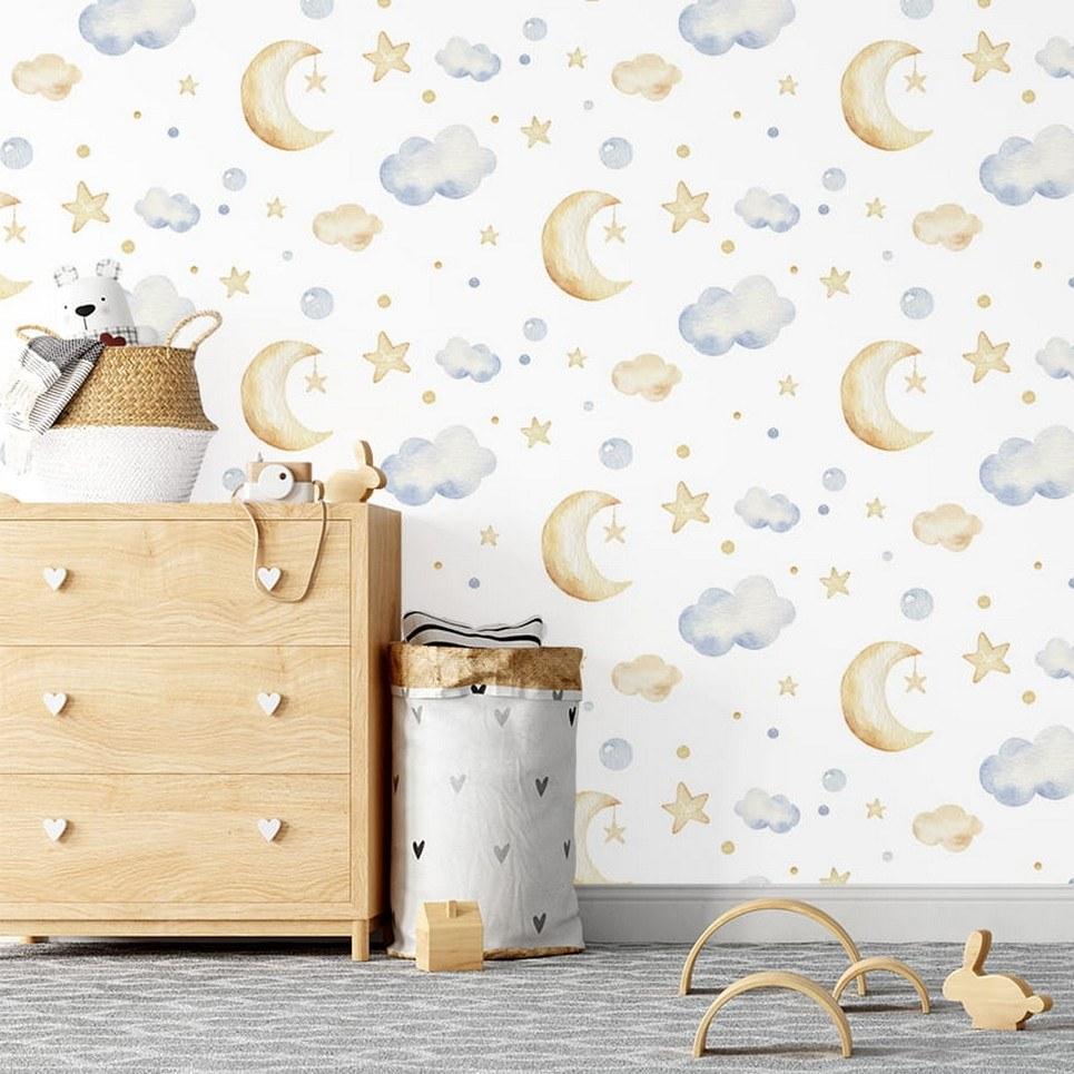 Sweet Sleepers Children's Wallpaper