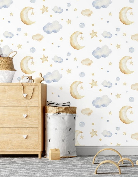 Sure to be adored by little ones, the Sweet Sleepers Children's Wallpaper is a fun addition to any nursery or playroom. Go on an adventure with our kid's wallpaper for children's rooms! A well-chosen pattern can visually enlarge the interior.