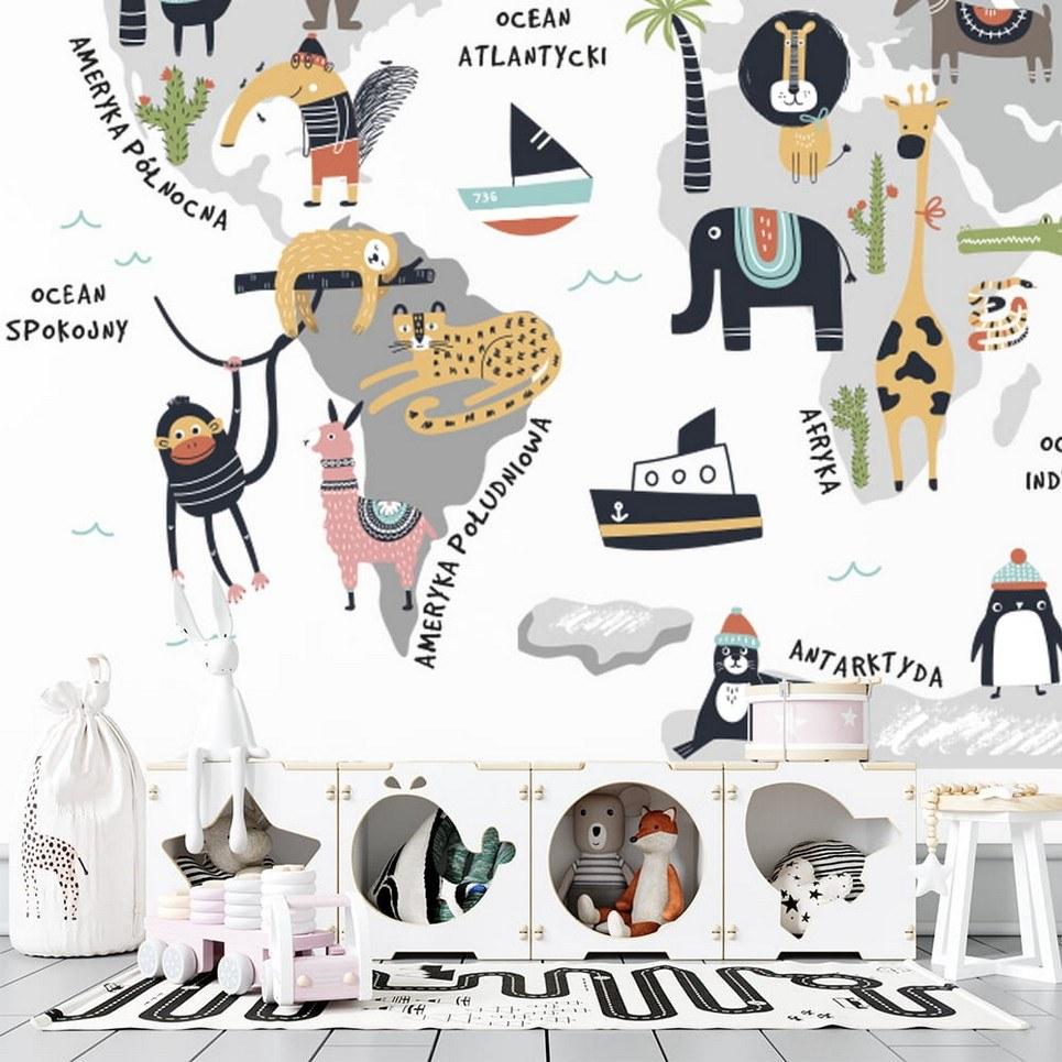 World of Animals Children's Wallpaper