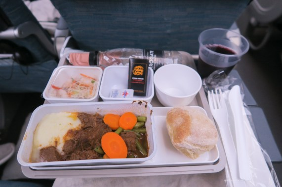 Cathay Pacific CX134 economy lunch