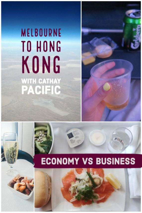 Cathay Pacific CX134 economy vs business flight