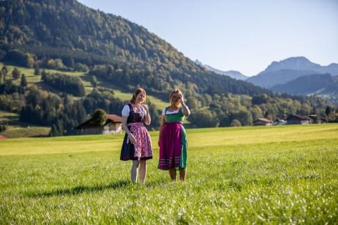 Helga Greta dirndl German road trip Bavaria