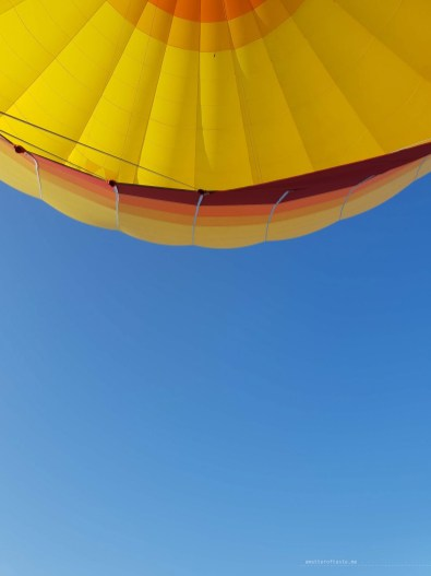 Hot air balloon top view