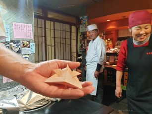Kyoto cooking class origami